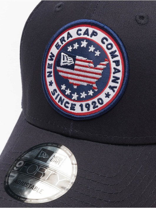 New Era Snapback Cap USA Patch 9Forty blue