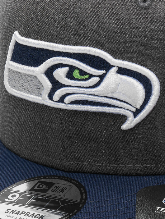 New Era Snapback Cap NFL Heather Seattle Seahawks 9Fifty grau