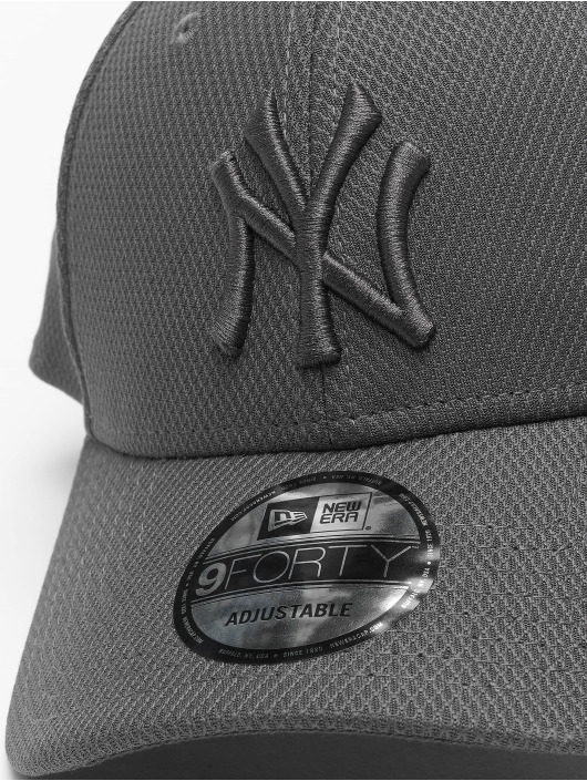 New Era Snapback Cap MLB NY Yankees Mono Team Colour 9Forty grau