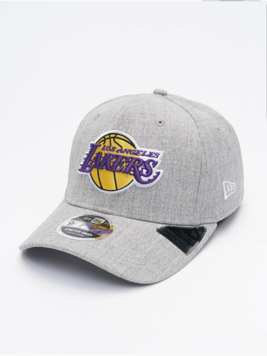 New Era Snapback Cap NBA LA Lakers Heather Base grau