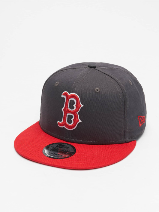 New Era Snapback Cap MLB Boston Red Sox League Essential 9Fifty gray