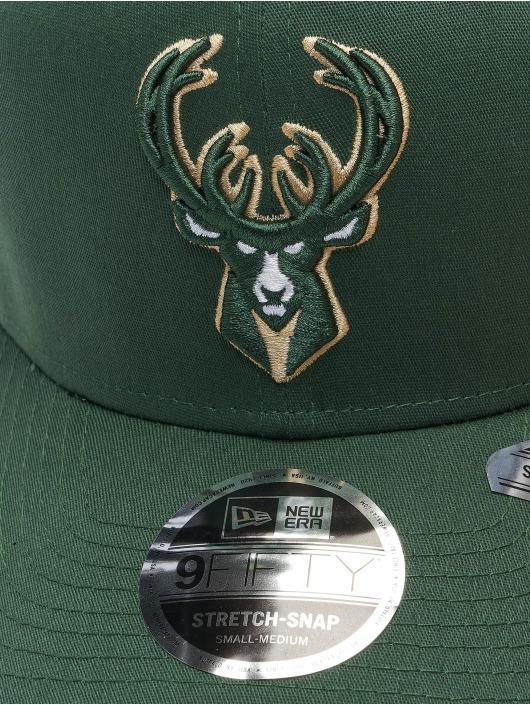 New Era Snapback Cap NBA Milwaukee Bucks Team Colour 9Fifty Stretch grün