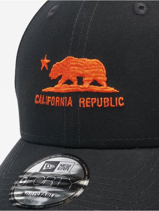 New Era Snapback Cap Cali nero