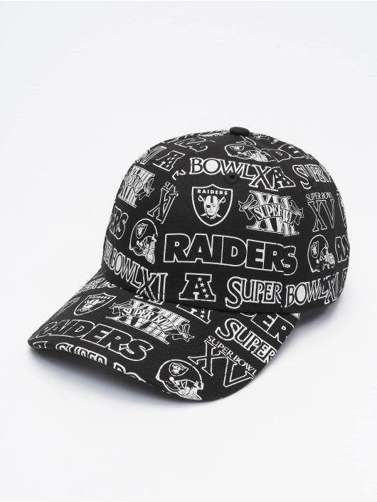 New Era Snapback Cap NFL Oakland Raiders Allover Print Logo nero