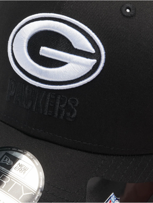 New Era Snapback Cap Nfl Properties Green Bay Packers Black Base 9forty nero