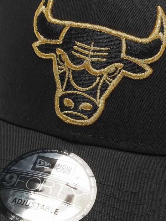 New Era Snapback Cap Nba Properties Chicago Bulls Ne Metallic Logo 9forty nero