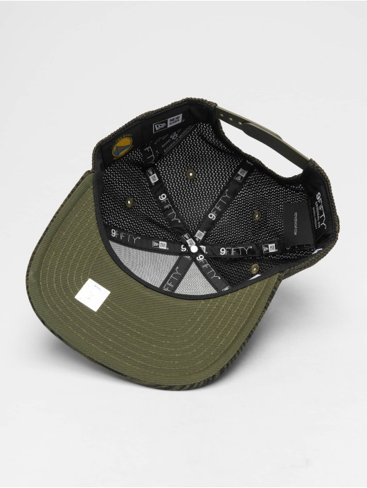 New Era Snapback Cap NBA Engineered Fit Golden State Warriors 9 Fifty olive
