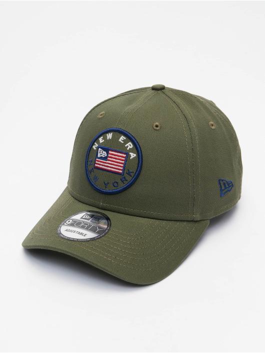New Era Snapback Cap US Flag Pack 9Forty olive