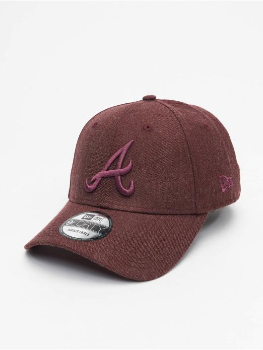 New Era Snapback Cap MLB Atlanta Braves Winterized The League 9Forty red