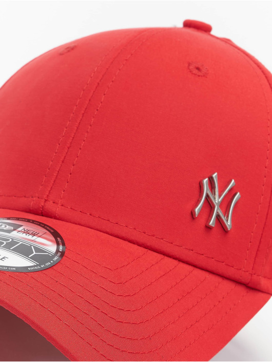 New Era Snapback Cap MLB NY Yankees Flawleshortsleeve Logo red