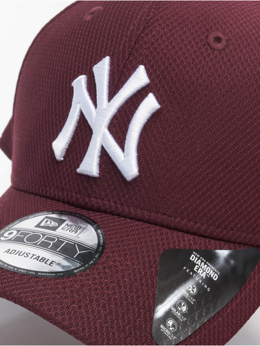 New Era Snapback Cap MLB NY Yankees Diamond Era 9forty red