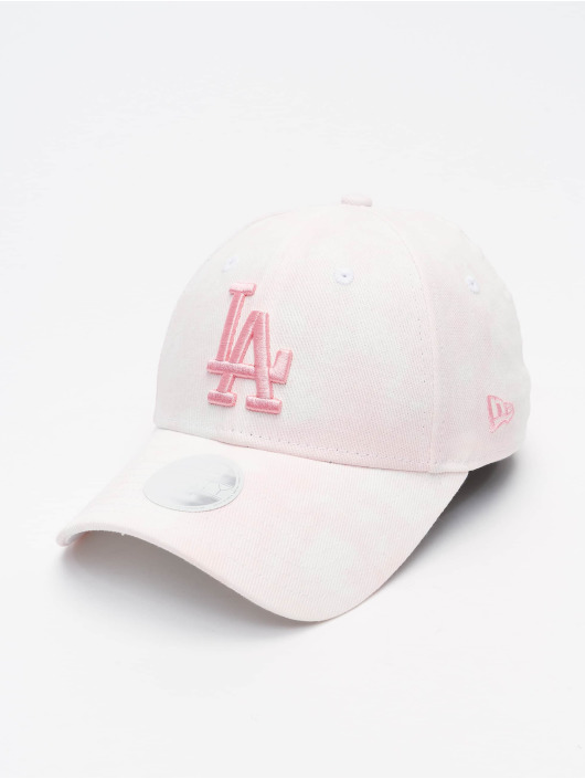 New Era Snapback Cap MLB Los Angeles Dodgers Womens Denim Colour 9Forty rosa