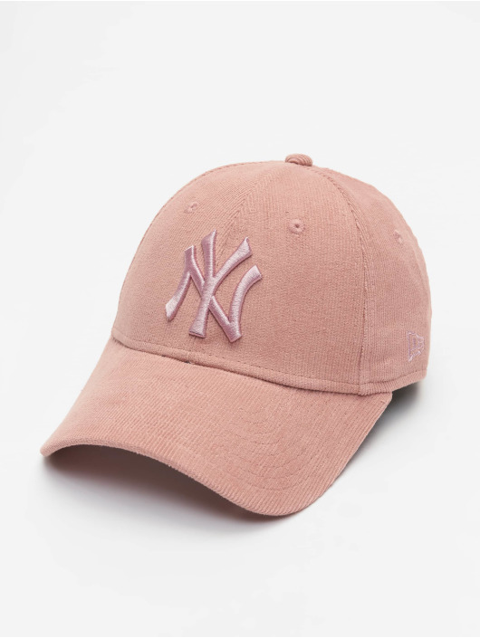 New Era Snapback Cap MLB NY Yankees Pastel Cord 9Forty rose