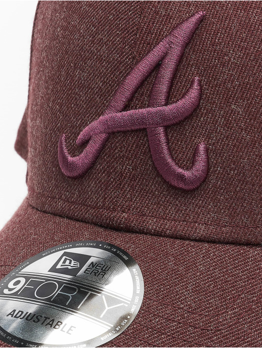 New Era Snapback Cap MLB Atlanta Braves Winterized The League 9Forty rosso