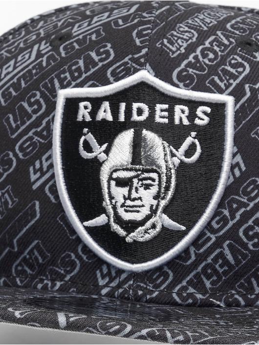 New Era Snapback Cap M 9Fifty Allover B6 Las Vegas Raiders schwarz