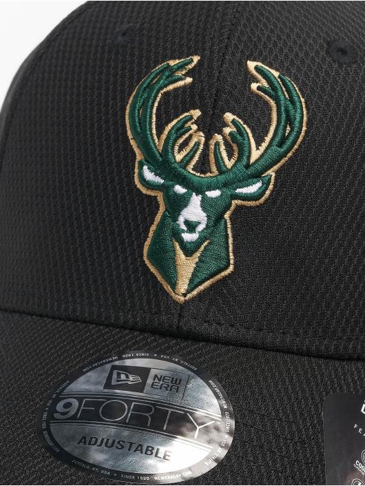 New Era Snapback Cap Nba Properties Milwaukee Bucks Diamond Era 9forty schwarz