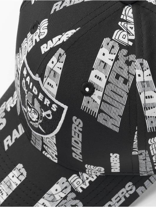 New Era Snapback Cap NFL Las Vegas Raiders All Over Script Print 9Forty schwarz