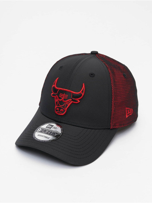 New Era Snapback Cap NBA Chicago Bulls Mesh Underlay 9Forty schwarz