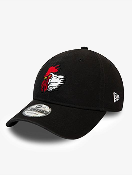 New Era Snapback Cap Minor League Port City Roosters Logo 9Forty schwarz