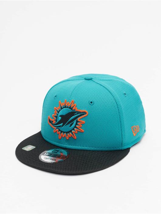 New Era Snapback Cap NFL Miami Dolphins Sideline Road 9Fifty turchese