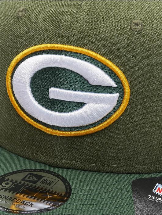 New Era Snapback Cap NFL Green Bay Packers Heather Crown verde
