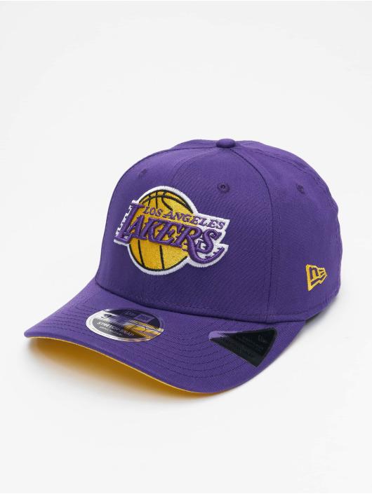 New Era Snapback Cap NBA LA Lakers Team Stretch viola