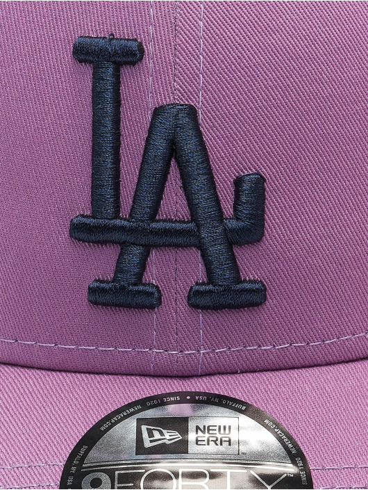 New Era Snapback Cap MLB Los Angeles Dodgers League Essential 9Forty violet