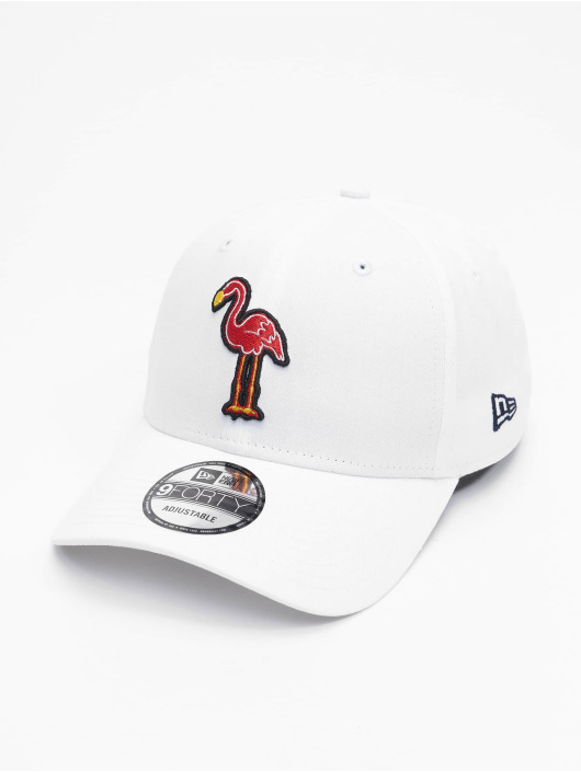 New Era Snapback Cap Minor League Miami Beach Flamingos Patch 9Forty weiß