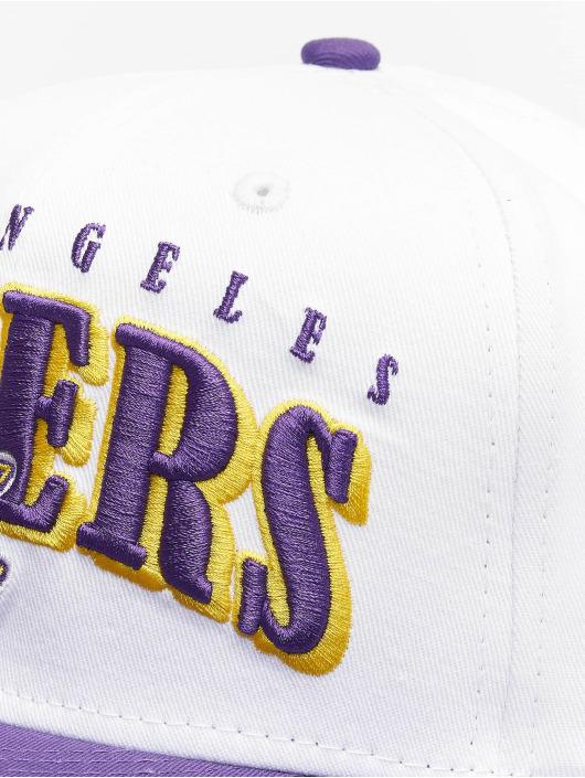 New Era Snapback Cap NBA LA Lakers Retro Pack Flat Visor 9Fifty white