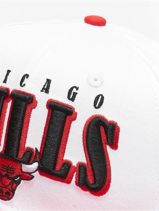 New Era Snapback Cap NBA Chicago Bulls Retro Pack Flat Visor 9Fifty white