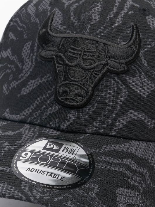 New Era snapback cap NBA Chicago Bulls NE Seasonal Camo 9Forty zwart