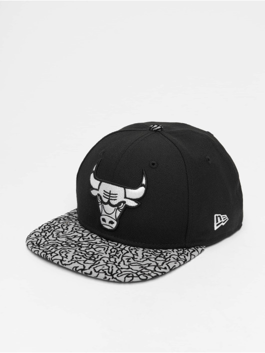 New Era Snapback Caps NBA Chicago Bulls 9Fifty Original Fit čern