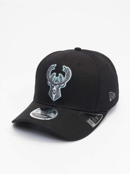New Era Snapback Caps Nba Properties Milwaukee Bucks Neon Pop Outline 9fifty čern