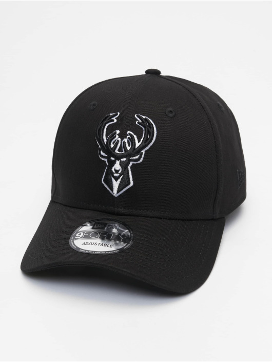 New Era Snapback Caps Nba Properties Milwaukee Bucks Black Base 9forty čern