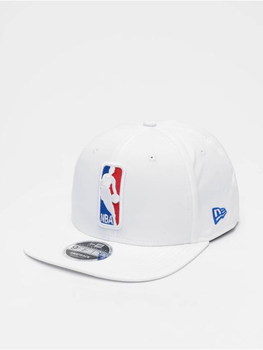 New Era Snapback Caps NBA Featherweight Logoman 9fifty Original Fit bialy