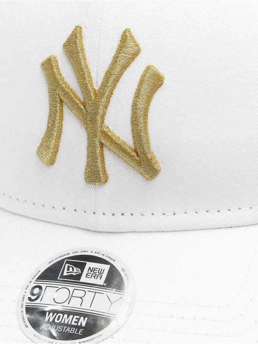 New Era Snapback Caps MLB NY Yankees Metallic 9Forty bialy