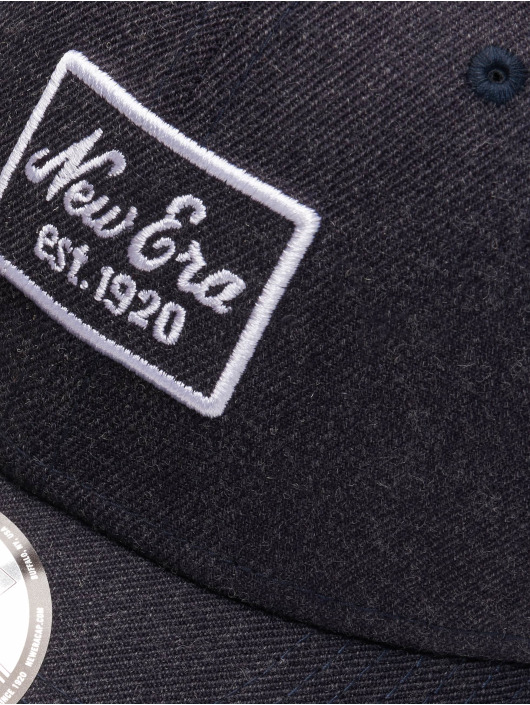 New Era Snapback Caps Heather 9 Fourty blå