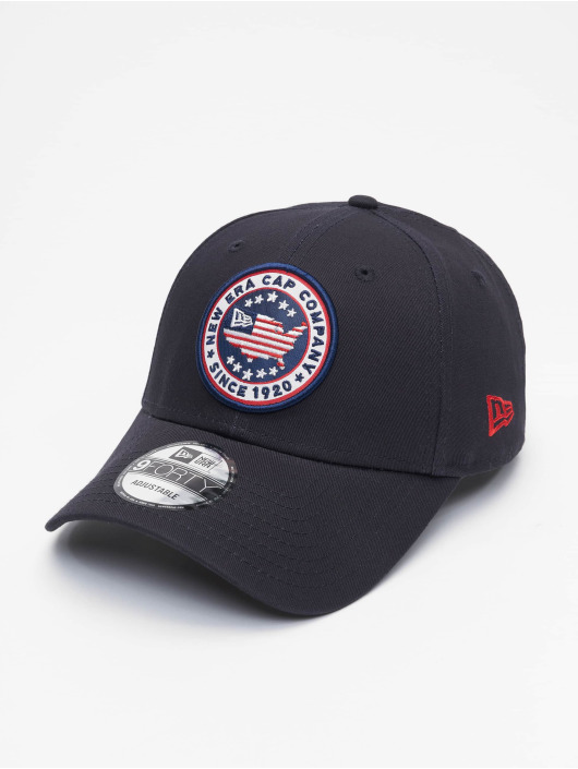 New Era Snapback Caps USA Patch 9Forty blå