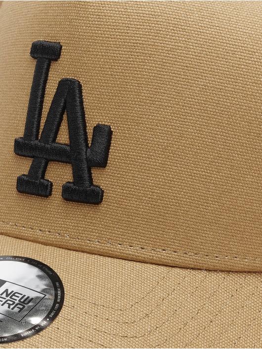 New Era Snapback Caps MLB LA Dodgers Sherpa brazowy