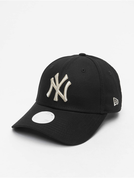 New Era Snapback Caps MLB NY Yankees Metallic 9Forty czarny