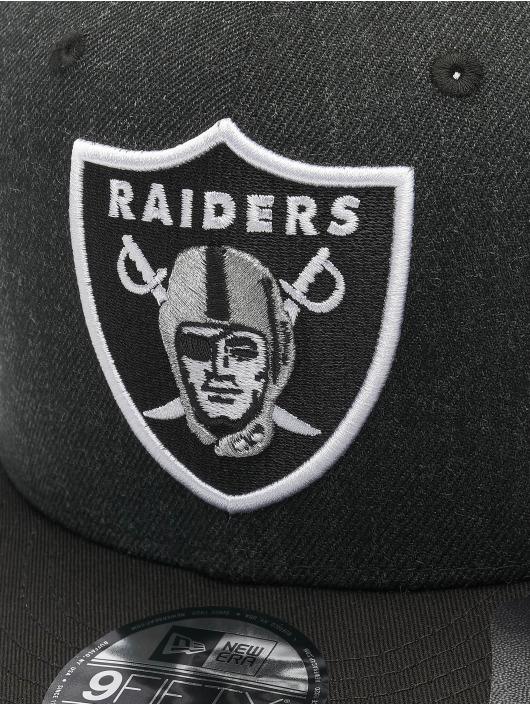 New Era Snapback Caps NFL Oakland Raiders Heather Crown czarny