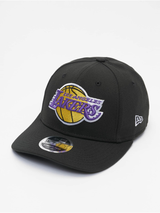 New Era Snapback Caps NBA LA Lakers Stretch 9fifty czarny