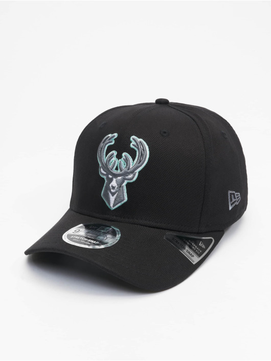 New Era Snapback Caps Nba Properties Milwaukee Bucks Neon Pop Outline 9fifty czarny