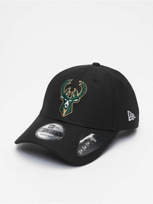 New Era Snapback Caps Nba Properties Milwaukee Bucks Diamond Era 9forty czarny