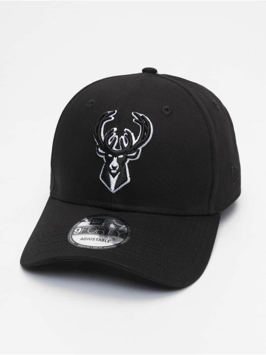 New Era Snapback Caps Nba Properties Milwaukee Bucks Black Base 9forty czarny