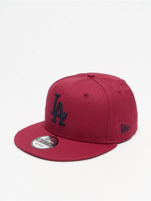 New Era Snapback Caps MLB LA Dodgers League Essential 9Fifty czerwony
