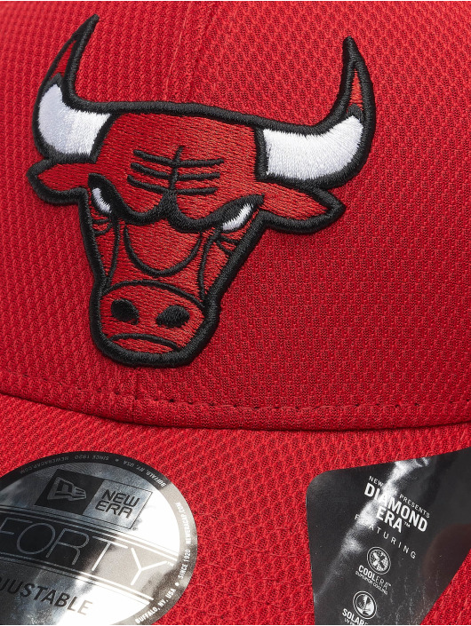 New Era Snapback Caps Nba Properties Chicago Bulls Diamond Era 9forty czerwony