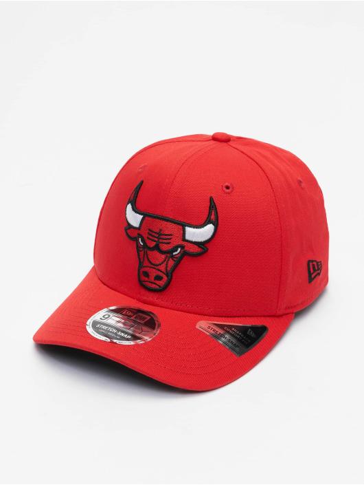 New Era Snapback Caps NBA Chicago Bulls Team Colour 9Fifty Stretch czerwony