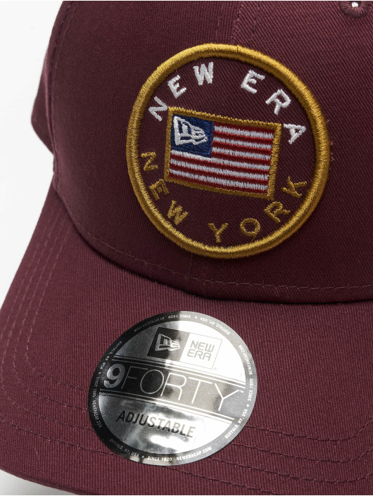 New Era Snapback Caps Flagged 9Forty fioletowy