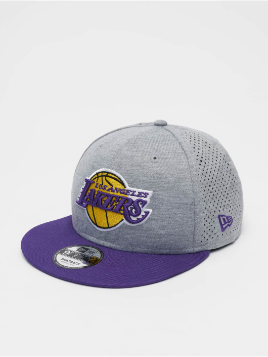 New Era Snapback Caps NBA LA Lakers Shadow Tech 9fifty grå